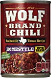 Wolf Brand Chili Homestyle with Beans, 15 Ounce (Pack of 12)