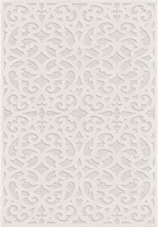 product image for Orian Rugs Sculpted 4704 Indoor/Outdoor High-Low Debonair Natural Area Rug, 9' x 13', Ivory