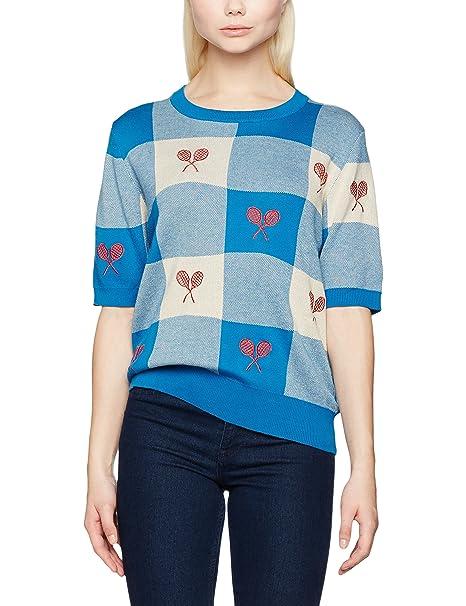 Pepaloves Rackets Blue Cardigan, Mujer, Azul (Blue), L