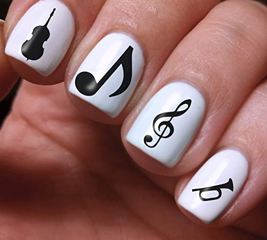 Nail Art Set 3d Diy Musical Notes Fairy Colorful Original