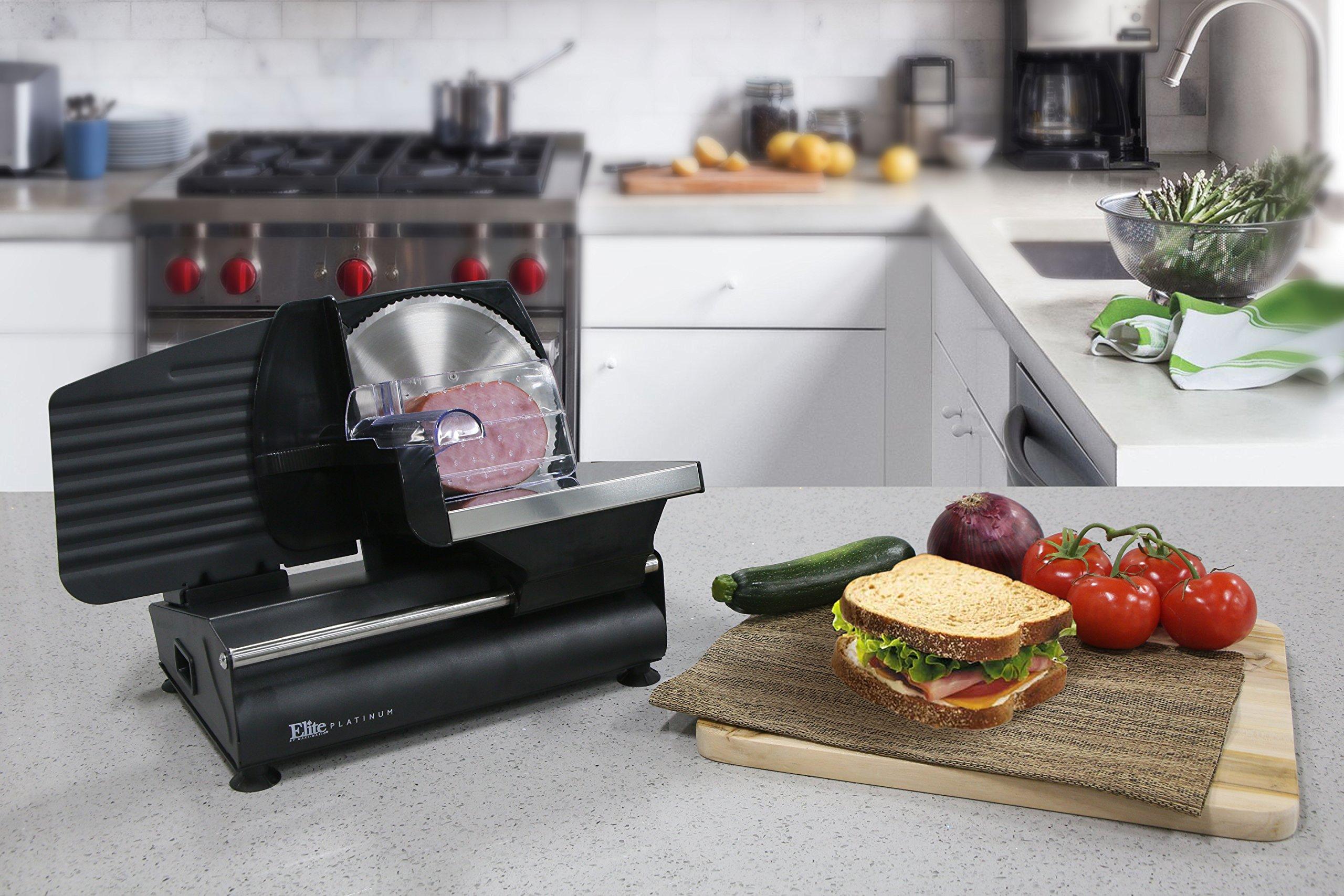 Galleon elite gourmet emt 503b maxi matic 130 watt die cast aluminum electric food slicer black for Kitchen set toys r us philippines