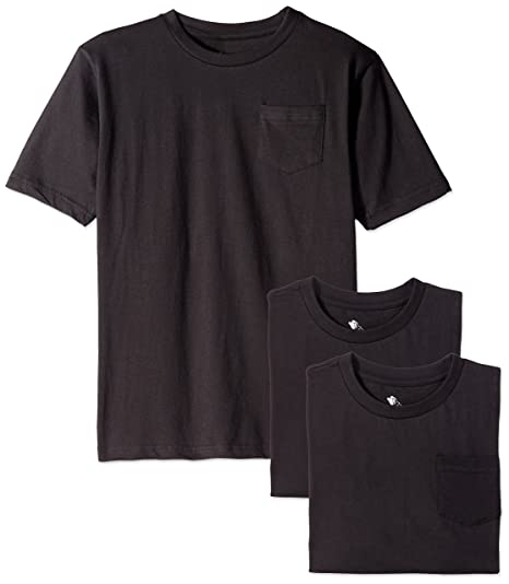 c959188a Amazon.com: American Hawk Boys 3 Piece Pack Crew Neck Pocket T-Shirt:  Clothing