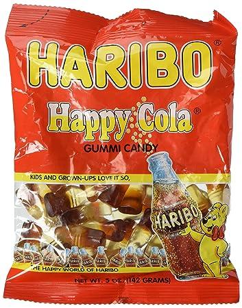 amazon com haribo gummi candy happy cola 5 ounce bag coca cola