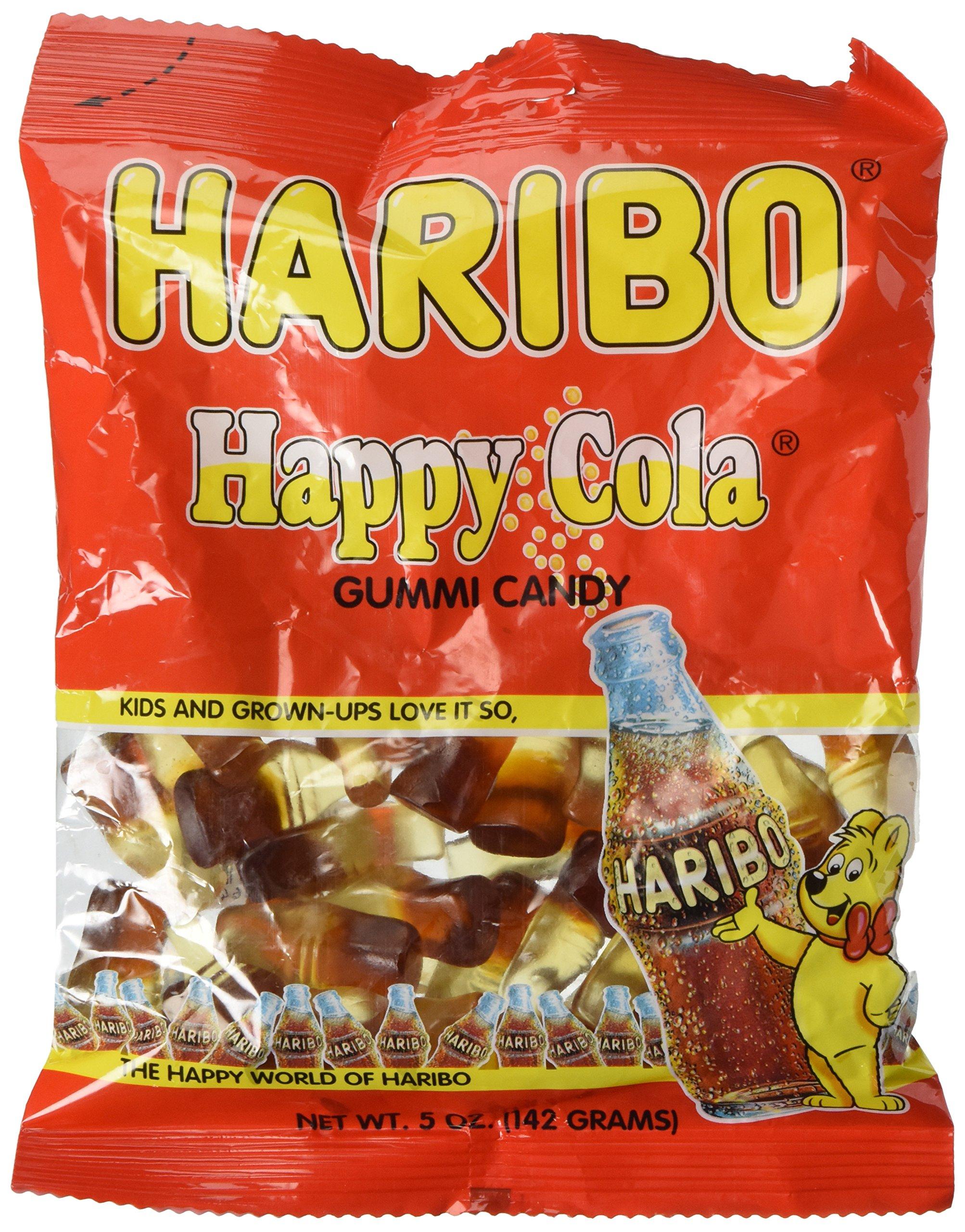 Haribo Gummi Candy, Happy-Cola, 5-Ounce Bag