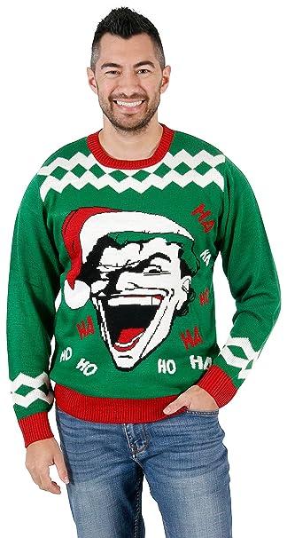 Joker Christmas.Junk Food The Joker Haha Hoho Ugly Christmas Sweater