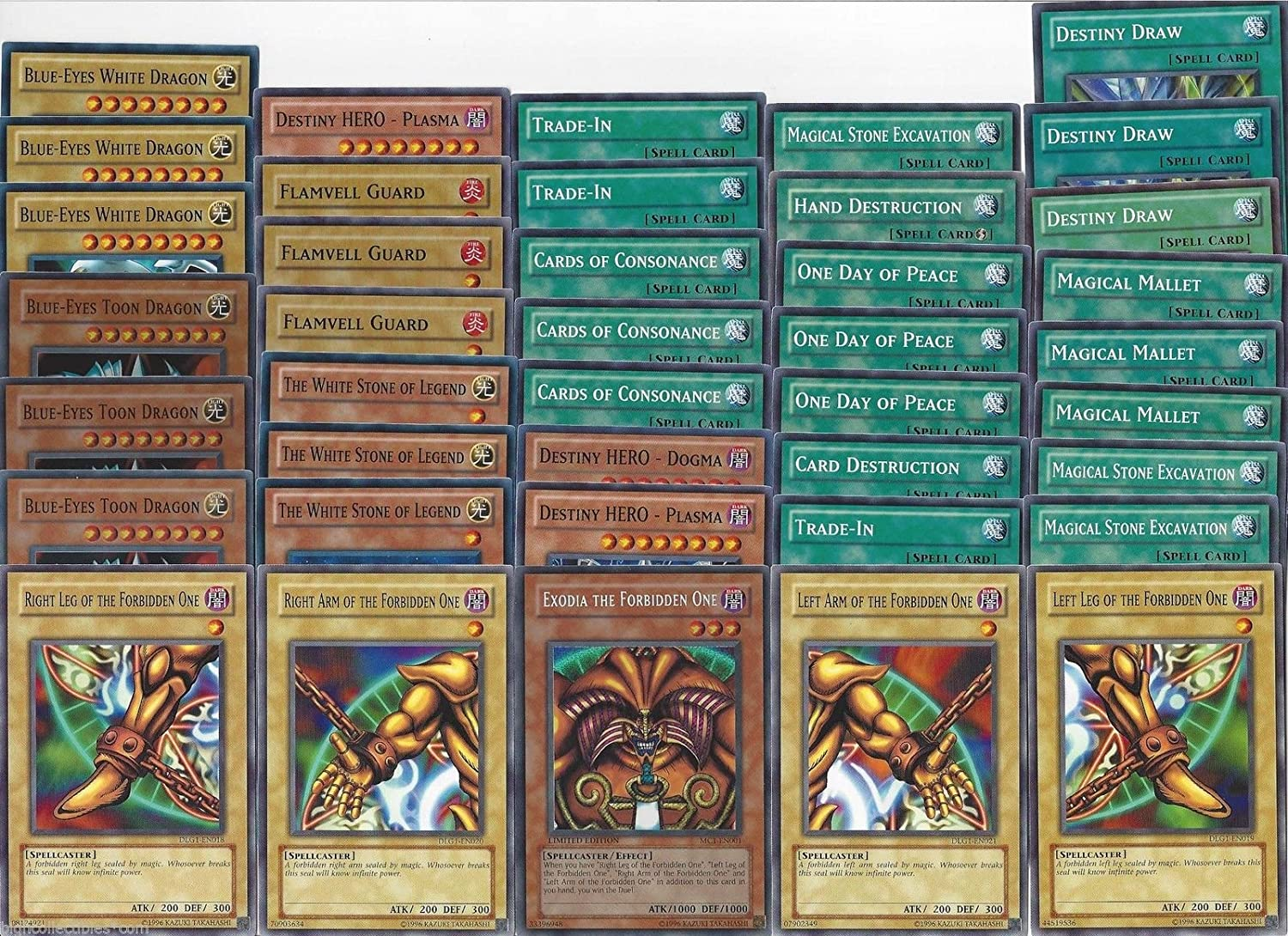 amazon com yugioh deep draw dragon exodia 40 card deck free