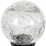 Exhart Solar Clear Cracked Crystal Ball Yard