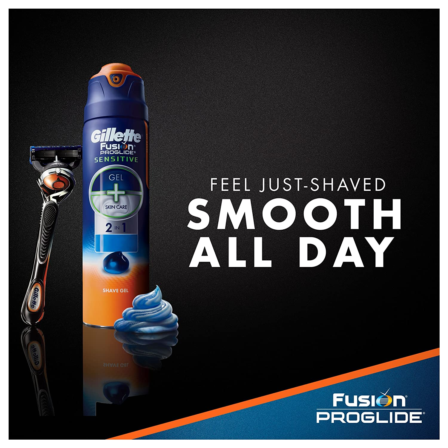 amazon com gillette fusion proglide sensitive 2 in 1 shave gel