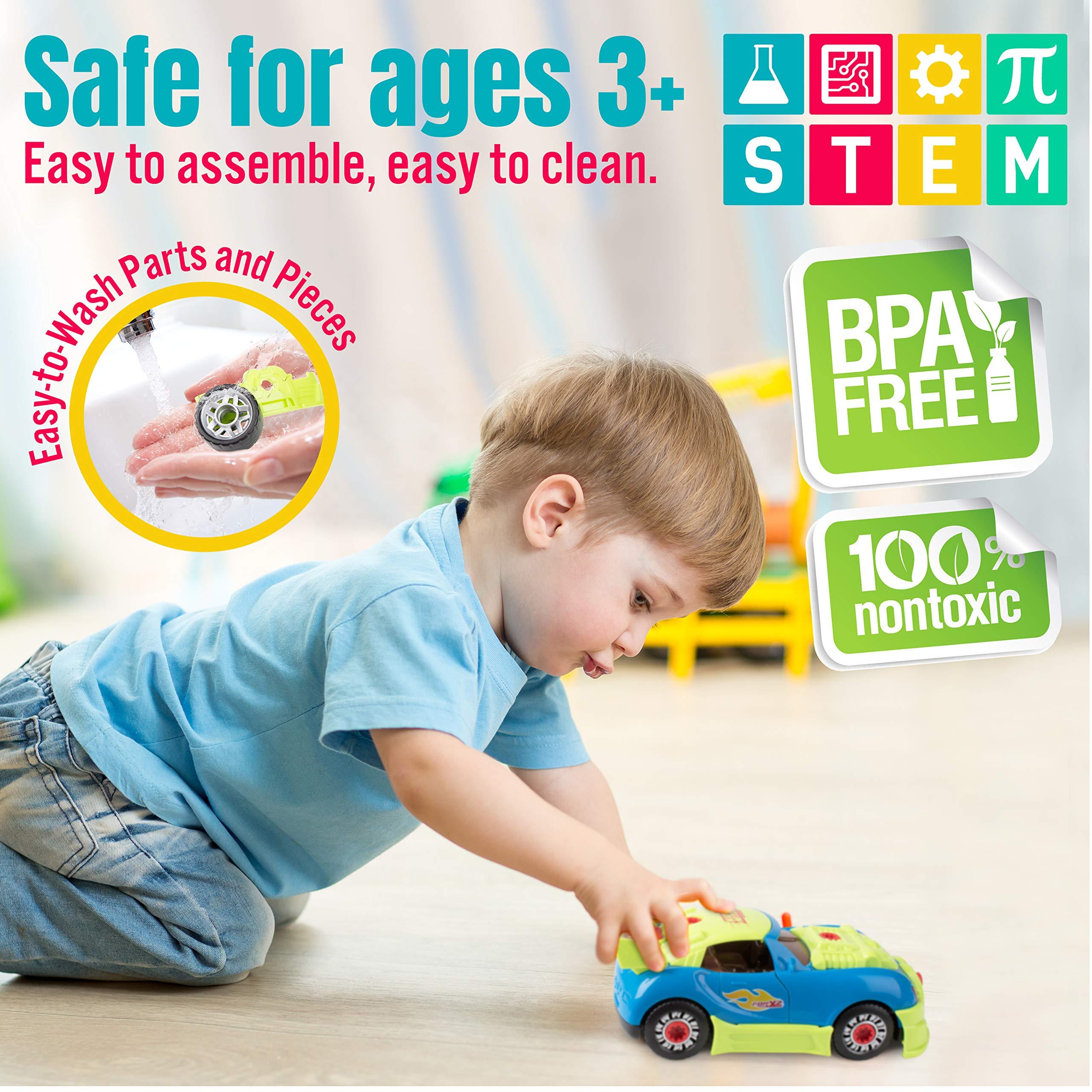 USA Toyz Race Car Take Apart Toys - 52pk Build a Car STEM Building Toys Set, Take Apart Car Building Kits for Kids w/ Car Drill Tool for Boys or Girls by USA Toyz (Image #5)
