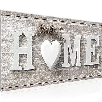 Bilder Home Herz Wandbild Vlies - Leinwand Bild XXL Format ...