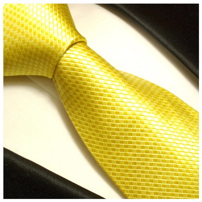 amarilla Corbatas Set 2 piezas Negro 100% seda corbata (extra ...
