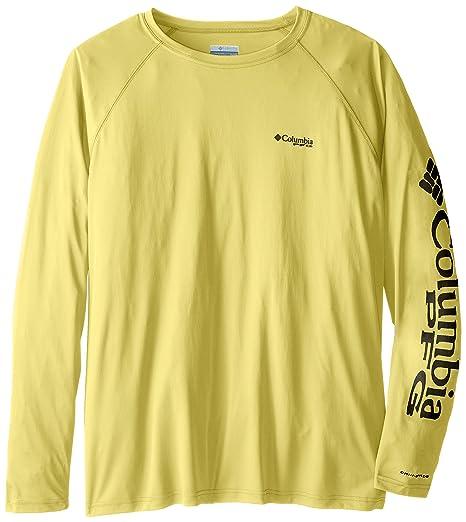 606741d48736 Columbia Men's PFG Terminal Tackle Long Sleeve Tee - Big , Sunlit, Grill  Logo,
