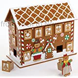 Wooden Gingerbread House Advent Calendar (32.5cm x 26cm)