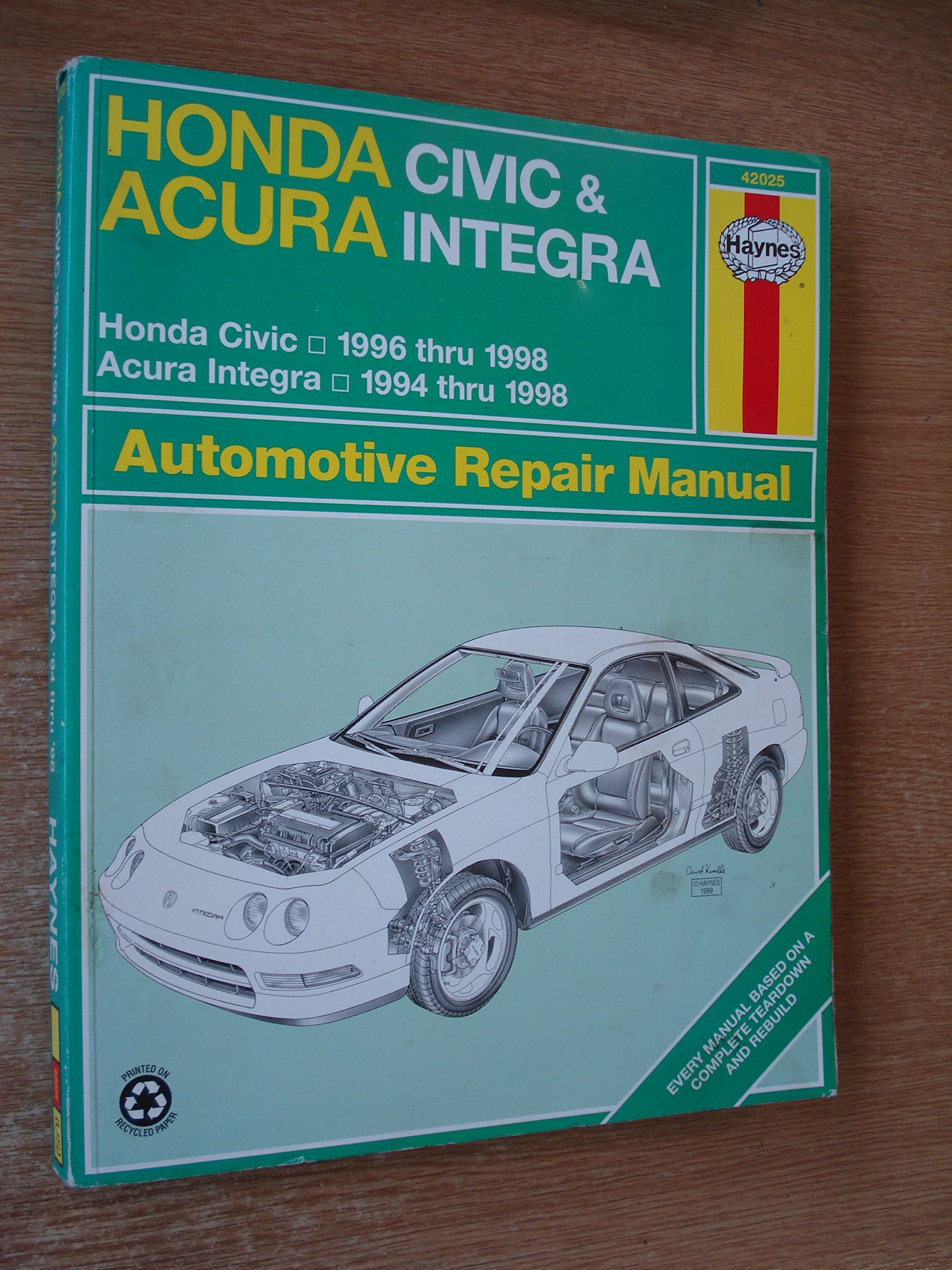 Honda Civic & Acura Integra Automotive Repair Manual (Haynes Automotive Repair  Manual): Larry Warren, Alan Ahlstrand, John H. Haynes: 9781563923302: ...