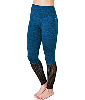 6b8c47c64c Amazon.com: Manduka Women's Mesh Crop Cropped Leggings, Stone ...
