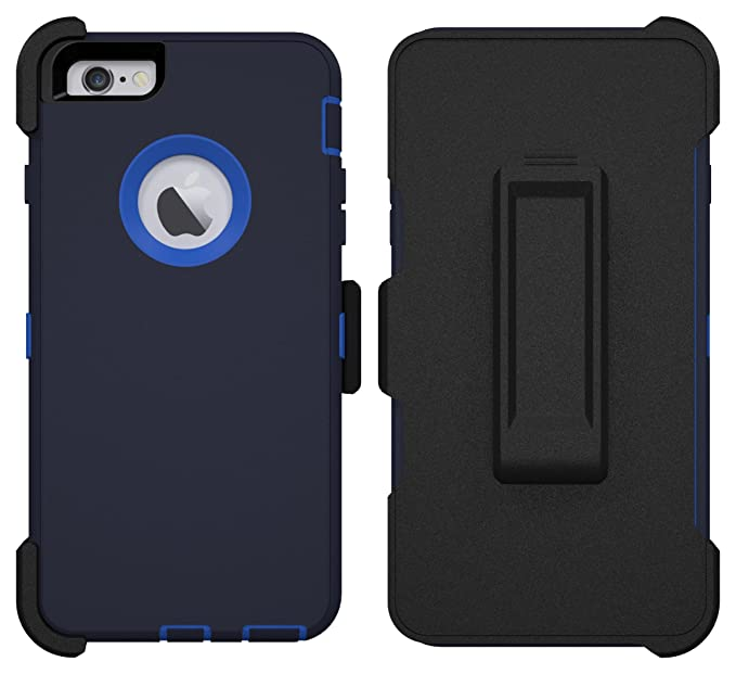 new styles 6a408 fe6c0 iPhone 6 Plus Case, iPhone 6S Plus Case, ToughBox® [Armor Series] [Shock  Proof] [Dark Blue | Sky Blue] for Apple iPhone 6 Plus Case [With Holster &  ...