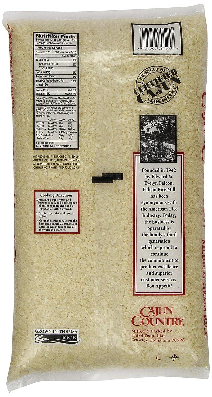 Amazon : Cajun Country Medium Grain Rice, 5 Pound : Dried Brown Rice :  Grocery & Gourmet Food