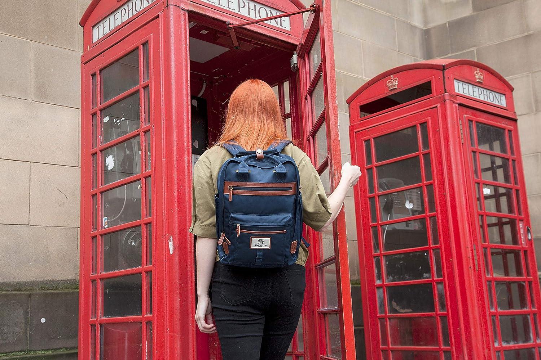 Parfait pour Un Ordinateur Portable jusqu/à 13 Sac /à Dos Wimbledon Moderne SEVENTEEN LONDON Simple et Unisexe avec Une Finition Bleu Marine dans Le Style dun Sac /à Dos scandinave