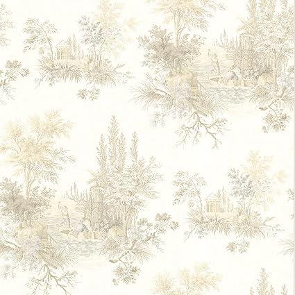 Beacon House 302 66848 Pictorial Romance Toile Wallpaper