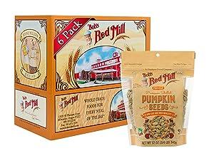 Bob's Red Mill Pumpkin Seeds, 12-ounce (Pack of 6)