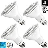 Hyperikon PAR30 LED Dimmable Bulb, 12W Flood Light Bulb, 65-75W Halogen Bulbs Equivalent, 920lm, 3000K (Soft White), 40 Degree Beam Angle, E26 Base, Recessed Lights, ENERGY STAR & UL - (Pack of 4)