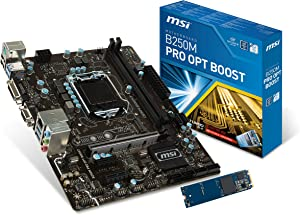 MSI ProSeries Intel B250 LGA 1151 DDR4 HDMI VR Ready micro-ATX Motherboard with Intel Optane Hard Bundle (B250M PRO OPT BOOST)