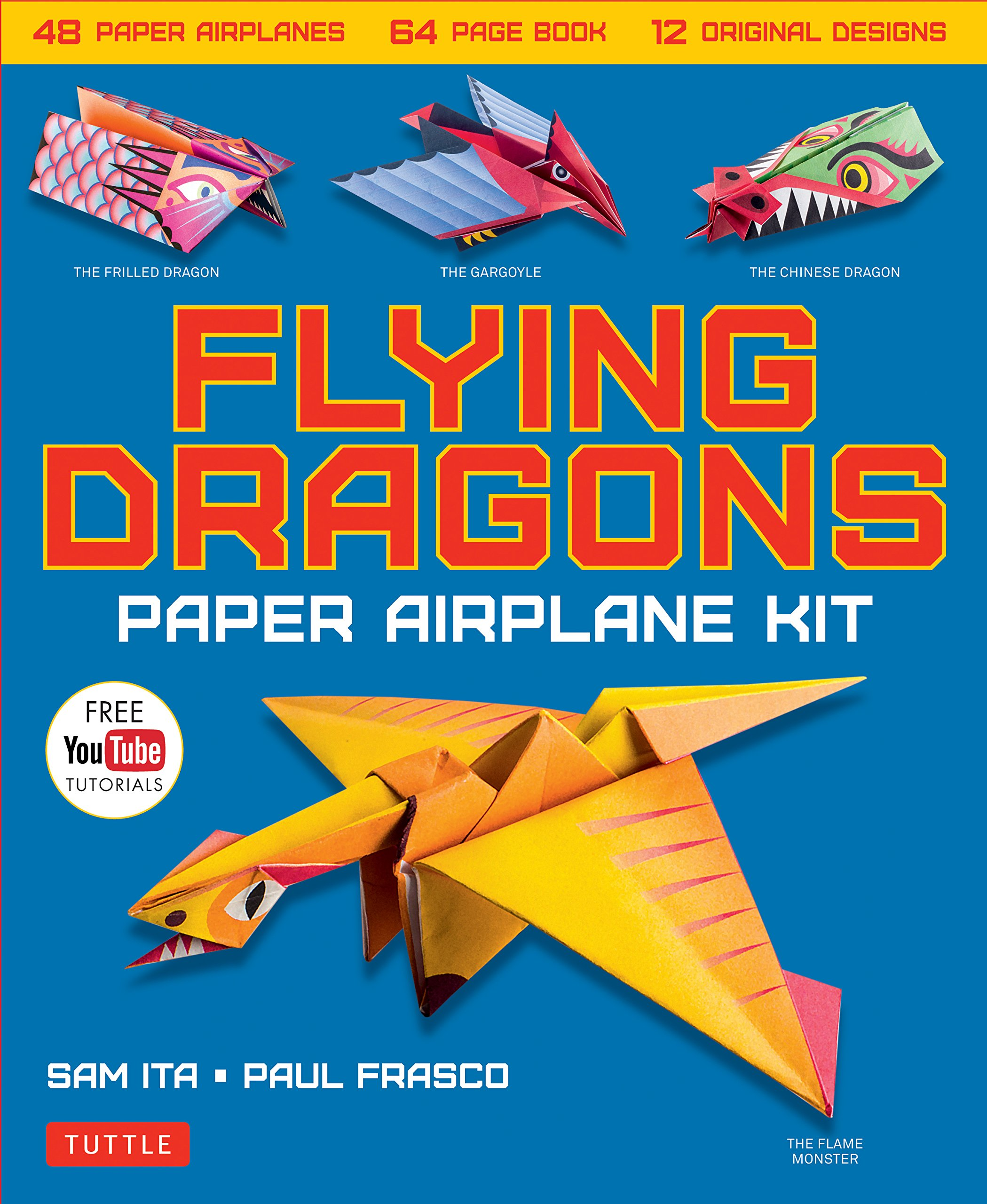 amazon flying dragons paper airplane kit 48 paper airplanes 64