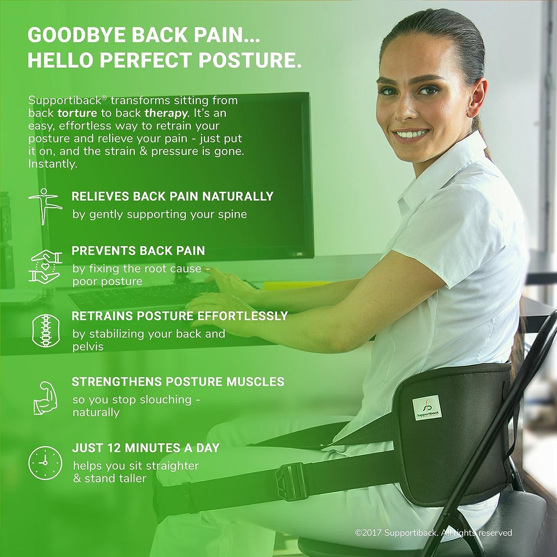 Supportiback ® Verbessere Deine Sitzhaltung, und und und Sitze Endlich mit Geradem Rücken, von Doktoren Empfohlen (Rückengurt) (Supportiback+) b9ca30