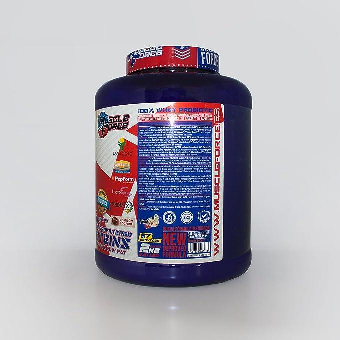 100% Whey Probiotic Sabor: Vainilla y Caramelo Contenido neto: 2kg ...