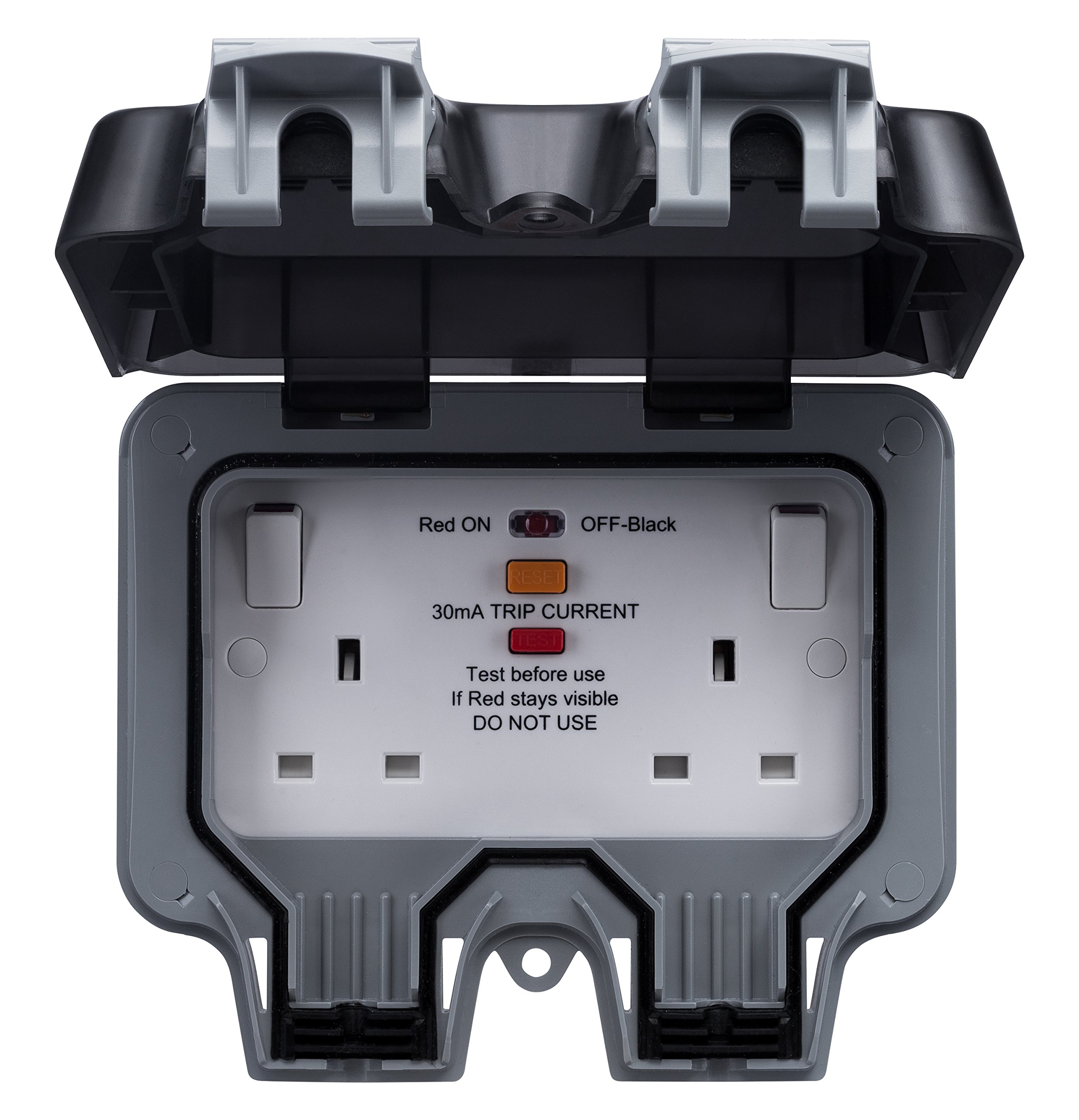 Bg Electrical Wp22rcd Double Socket With Switch And Rcd