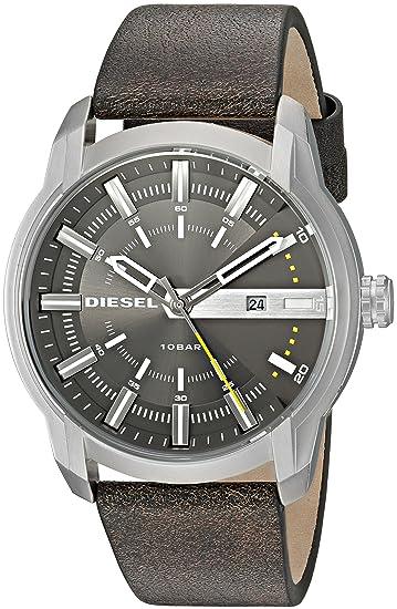 Diesel Reloj para Hombre de Cuarzo con Correa en Cuero DZ1782: Diesel: Amazon.es: Relojes