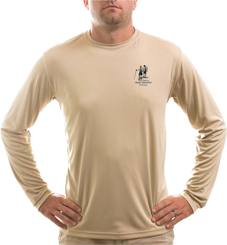 Long Sleeve T-Shirt American Backcountry Mens Olympic National Park UPF 50