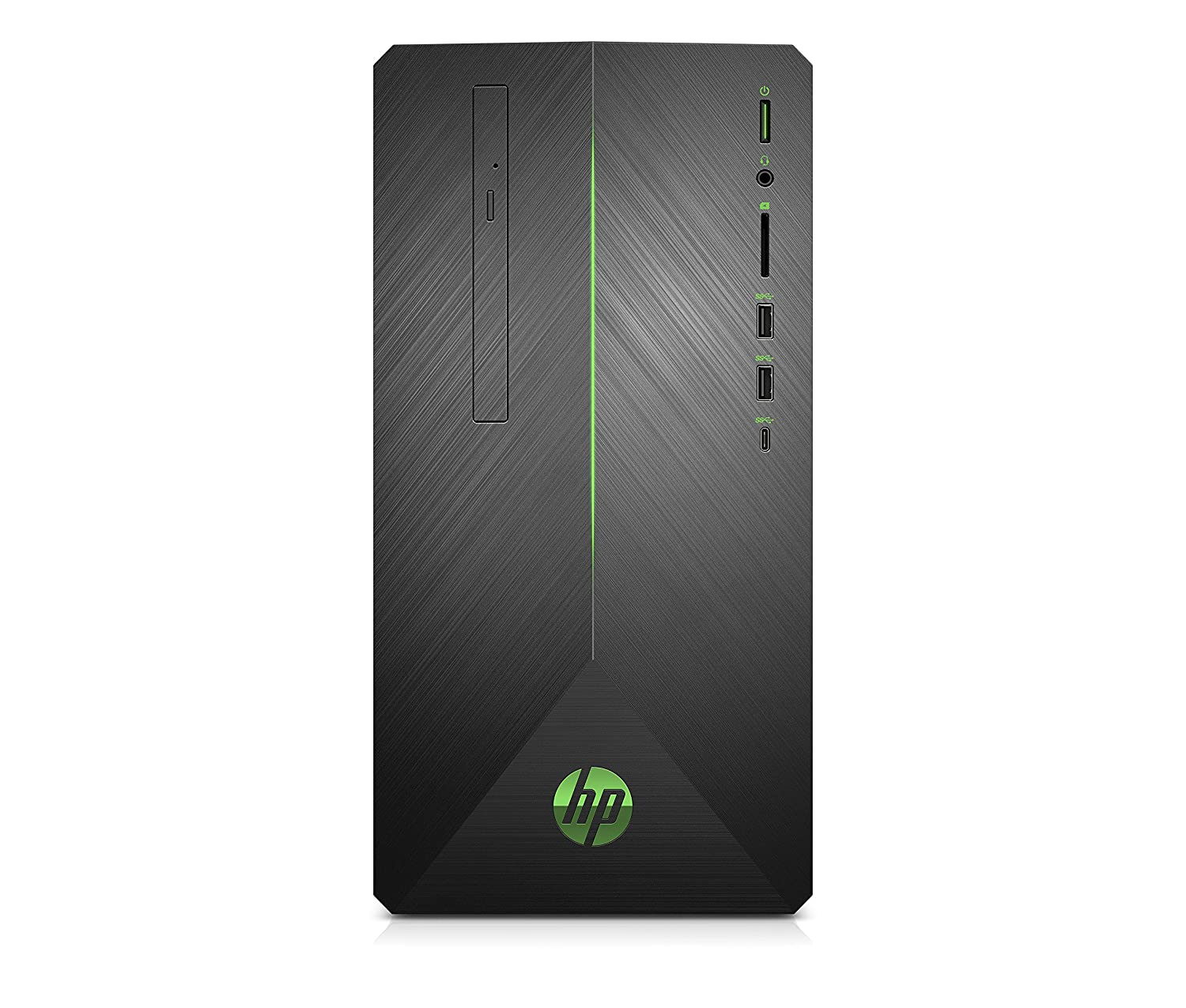 HP Pavilion Gaming Desktop Computer, AMD Ryzen 5 2400G, NVIDIA GeForce GTX 1060, 16GB RAM, 1TB hard drive, 128GB SSD, Windows 10 (690-0048, Black) (3LB74AA#ABA)