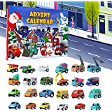 Juegoal Cars Advent Calendar 2020 for Kids, Stocking Stuffer Toy Cars with 24 Different Pull Back Vehicles Including…