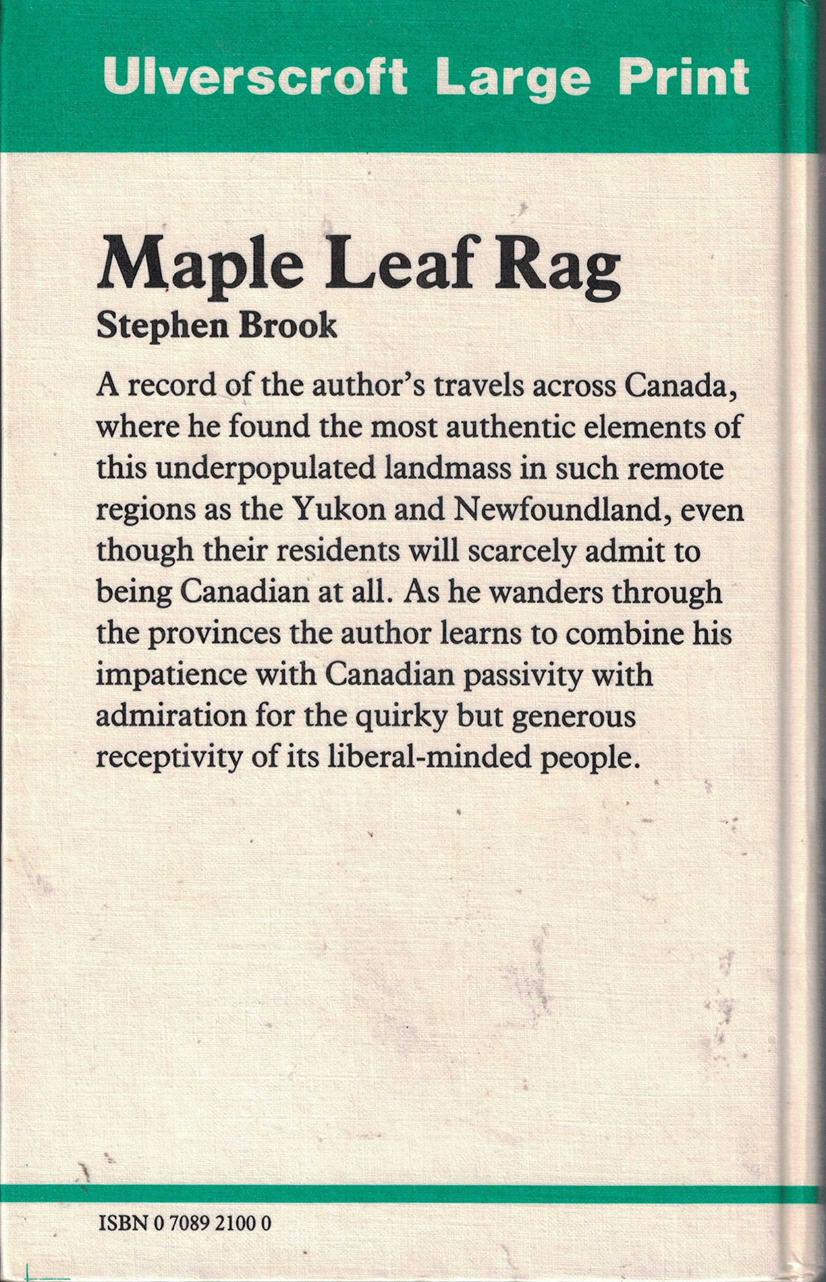 Maple leaf rag - travels across Canada