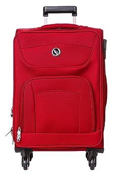 fcbf81ab8 EMBLEM Luggage Sigma Fabric 65 cm Maroon Check in Wheel Trolley Bag  Suitcases & Trolley Bags