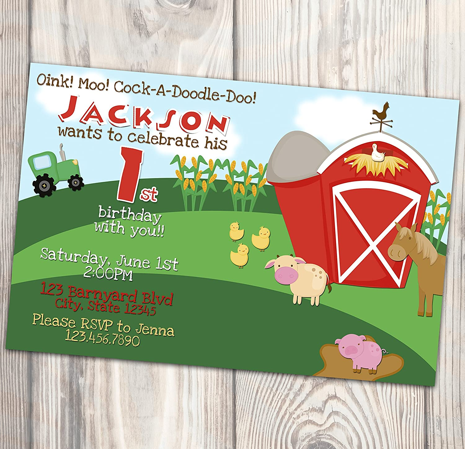 Amazon Barnyard Birthday Party Invitation