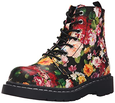 Amazon.com | T.U.K.. Women\'s Floral Print Combat, Multi, 6 M US ...