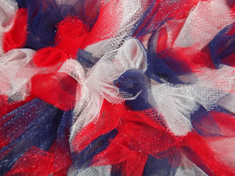 Extra Full Rustic Patriotic Tulle Wreath