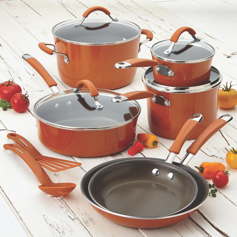 Amazon.com: Rachael Ray Cucina Hard Porcelain Enamel Nonstick ...
