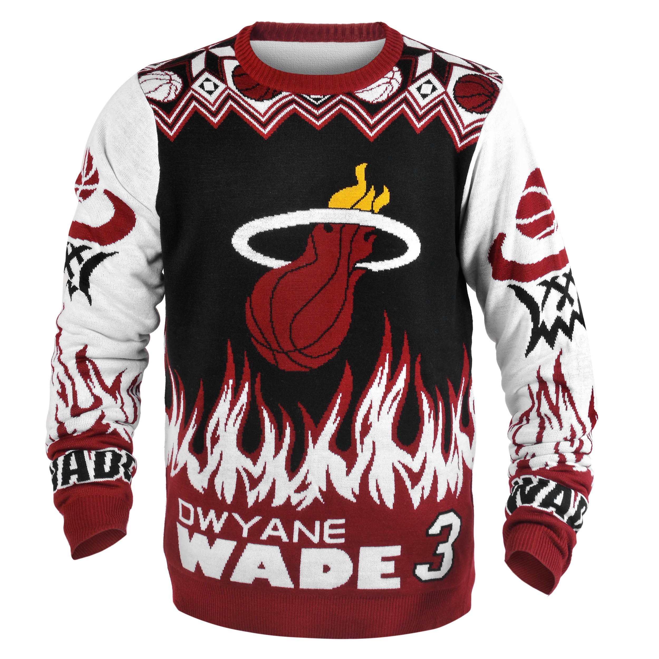 Miami Heat Wade D. #3 Player Ugly Sweater Double Extra Large