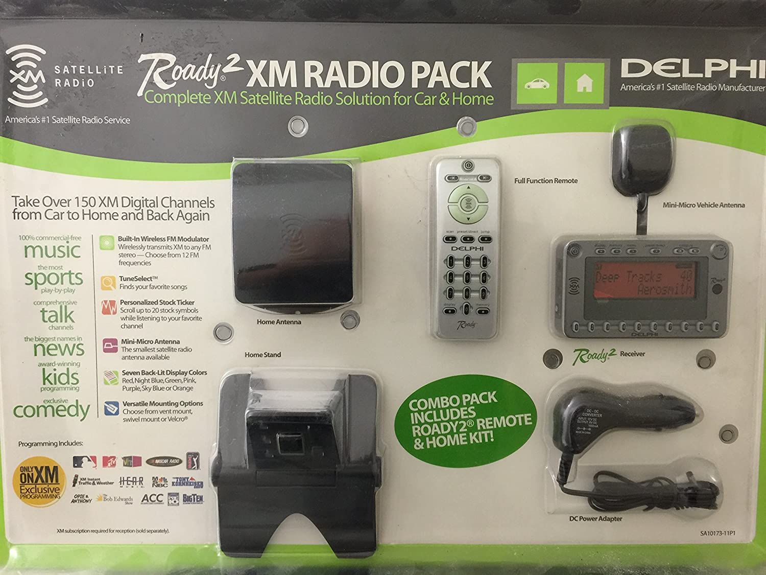Delphi SA10315-11B1 XpressRC Plug and Play XM Satellite Radio with Color Display