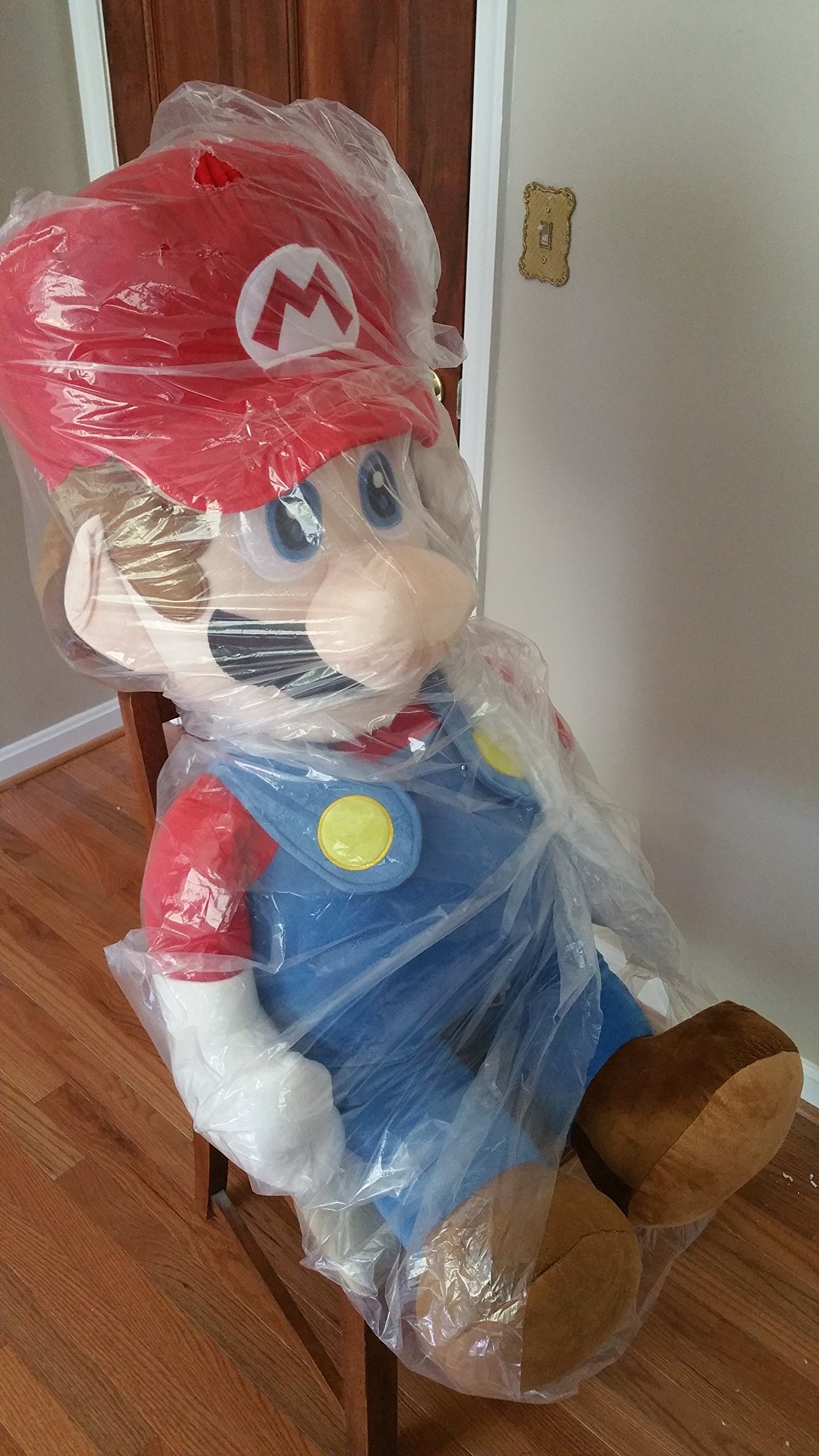 Authentic Nintendo Licensed Life Size 48'' Super Mario Plush Collectible Toy by Nintendo