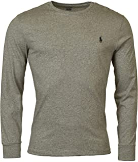 d646eb3afc4811 Mens Long Sleeve Crew Neck T-Shirt Pocket Classic Fit | Amazon.com