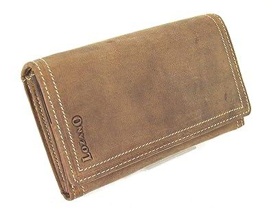 3875d82cd660e flevado Vintage Wildleder Damen Geldbörse Lozano Hand Made Brieftasche  German Design