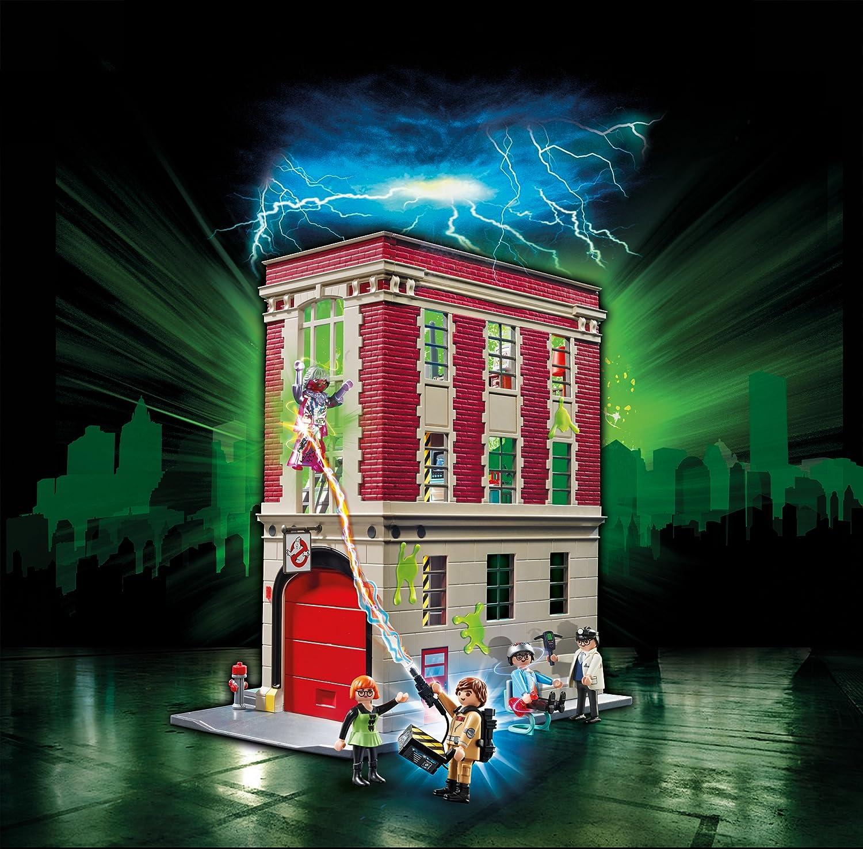 PLAYMOBIL Ghostbusters, Cuartel Parque de Bomberos, a Partir de 6 Años (9219)