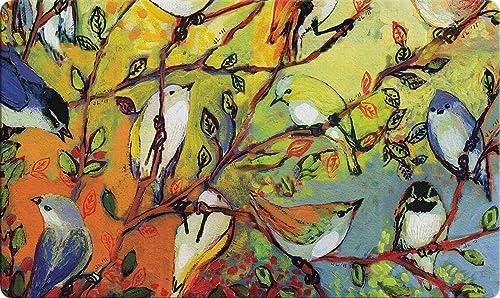 Toland Home Garden 800469 Birdy Branches 18 x 30 Inch Decorative, Spring Collage, Doormat