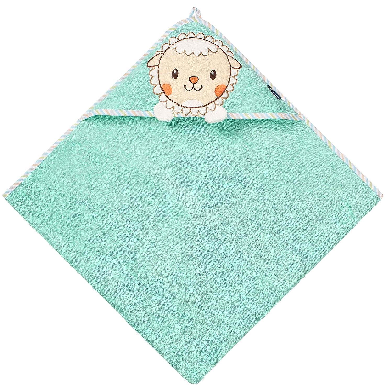 f/ür Neugeborene beige Junge und M/ädchen Alter 0-24 Monate Waschb/är Morgenstern Kapuzenhandtuch OEKO-TEX/® 100/% Baumwolle 80 x 80 cm gro/ß