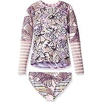 Maaji Girls' Long Sleeve Rashguard Swimsuit Set
