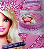 Disques en azyme 16 cm de Barbie pour décoration gâteau fête d'anniversaire enfant